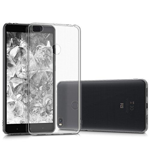 kwmobile Hülle für Xiaomi Mi Max 2 - TPU Silikon Backcover Case Handy Schutzhülle - Cover klar Transparent