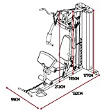 MARCY Unisex– Erwachsene Heim-Gym mit 90kg Gewichtsblock Kraftstation, Schwarz, One Size - 5