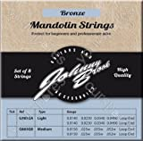 Johnny Brook - Lot de 8 Cordes de Mandoline Haute Qualité en Bronze (Calibre Fin)