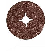 Silverline 583260 Discos de Lija de Fibra, 115 x 22.23 mm, Grano 60, 115 mm, Caja de 10