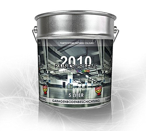 Paintsystems Garagenbodenbeschichtung Garagenbodenfarbe Betonfarbe Garagenboden PU 5 Liter RAL WUNSCHFARBTON