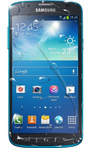 Samsung Galaxy S4 Active Smartphone (12,7 cm (5 Zoll) FHD-TFT-Touchscreen, 1,9GHz, Quad-Core, 2GB RAM, 16GB interner Speicher, 8 Megapixel Kamera, LTE, Android 4.2) blau - 4 Max S4 Galaxy Fall