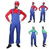 Anladia CLE DE Tous - Disfraz de Mario Bros para Adulto Hombre Cosplay Dress Fiesta Carnaval Halloween Talla M (40) L (42) (Talla L (42))