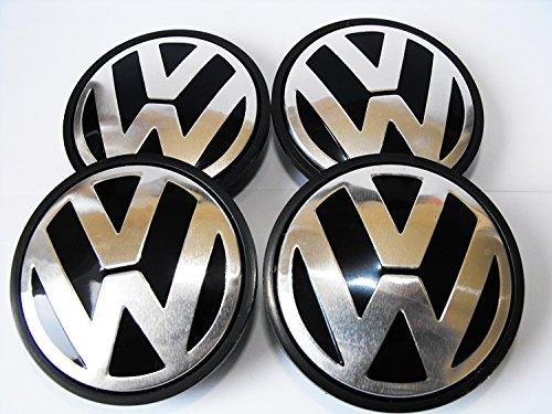 Replacement Centre Caps. 4 x 65mm. VW Volkswagen Compatible.