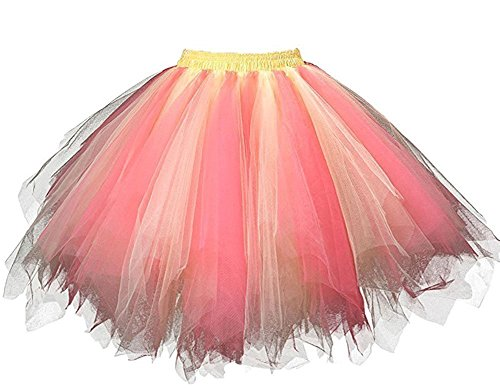 HotQueen Women's 1950s Vintage Tutu Ballet Half Slip Skirt Bubble (Tutu Kostüme Womens)