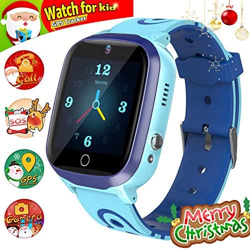 GPS Smartwatch, Reloj Impermeable para NiñOs Reloj Inteligente Rastreador de TeléFono HD...