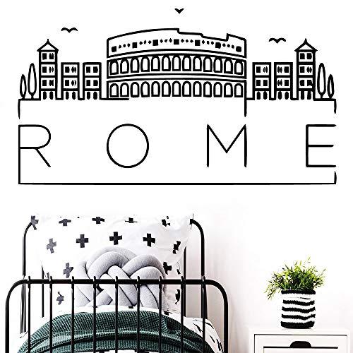 Preisvergleich Produktbild 3d Rom Karte Wandkunst Aufkleber Aufkleber Wandbilder Entfernbare Wandaufkleber Für Kinderzimmer Dekoration Tapete Gelb M 30 cm X 54 cm