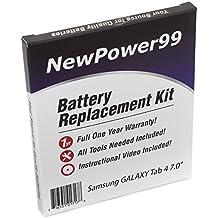 Kit de Reemplazo de la Batería para Samsung GALAXY Tab 4 7.0 Serie (GALAXY Tab 4 7.0 SM-T230, GALAXY Tab 4 7.0 SM-T230NU) Tablet con Video de Instalación, Herramientas y Batería de larga duración