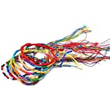 bodhi200020pcs DIY Multicolor trenzado hebras pulseras amistad pulsera de cordones hecho a mano regalo, color al azar