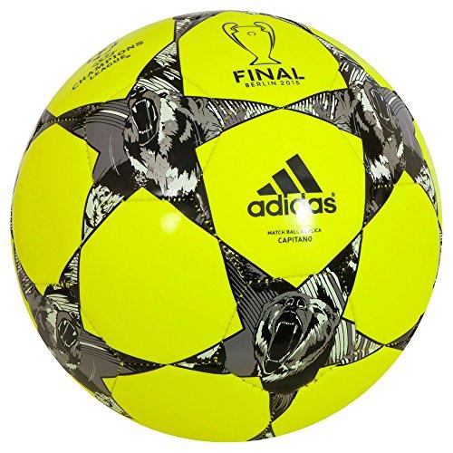 Adidas Spielball Finale Berlin - Balón de fútbol de Entrenamiento, Color Amarillo, Talla 45 x 23 x 7.5 cm, 3 Liter