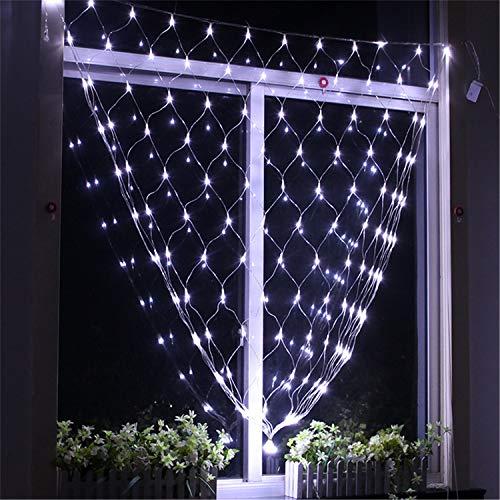 slichtnetz Party im Freien Festival LED Fairy String Mesh Net Lights für Weihnachtsbüsche Dekoration-weiß ()