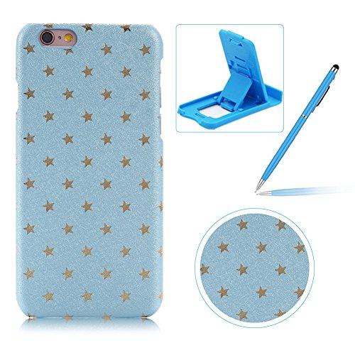 per-apple-iphone-6-6s-47-custodia-coverherzzer-mode-creativo-elegante-star-hard-pc-azzurro-stelle-bu
