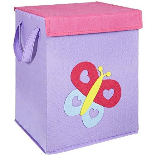 FABELBUNT® Contenitore per giocattoli piegabile con diversi motivi e tanto spazio (37x30x26cm)