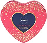 NIVEA Luscious Lips Gift pack, 4 full size lip balms