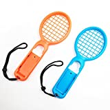 DYTesa 2pcs/Set Tennis Racket for Switch Joy-Con Controller Left and Right Handle for M Ario Tennis Aces Game,Orange and Blue