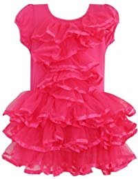 Girls Dress Peach Pink Tulle Tutu Dancing Party Kids Boutique Size 2-6 Years