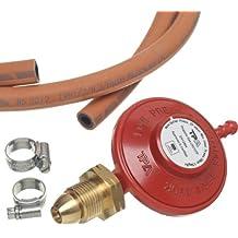 Greenhouse Warehouse - Regolatore di pressione per bombole di propano, kit composto da tubo e gancio
