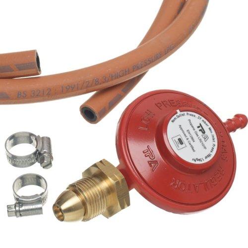 régulateur de propane + tuyau et colliers de serrage