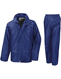 Raiken Men's Waterproof Jacket & Trouser Set Outerwear Rain Suit Size
