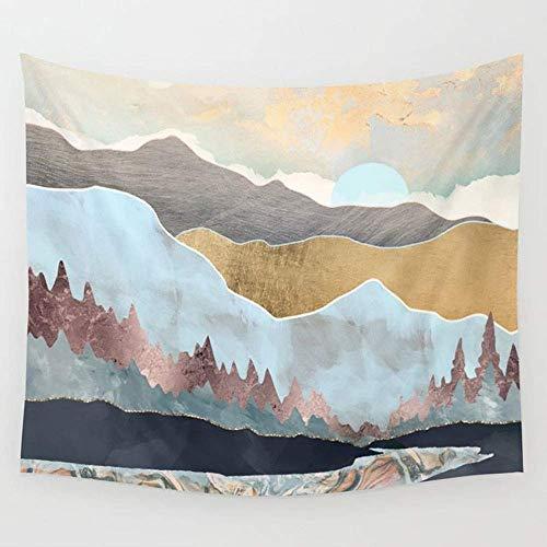 Alfreen Tapisserie-Dekor, Winter Light Wall Tapestry Hanging Tapestries,Boho Mandala Tapestry,Wall Art for Bedroom Living Room Dorm 80X60 inches -