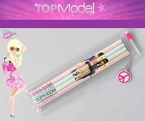 Depesche 6301 TOPModel Bleistiftset 4er Set in Tasche mit Anhänger Bleistift