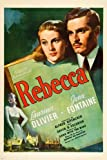 Laurence Olivier Joan Fontaine Film Poster Rebecca Psycho Thriller 24 x 36