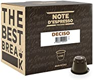Note d'Espresso Deciso Coffee Capsules exclusively Nespresso* machine Compatible 5.6g x 100 Capsules