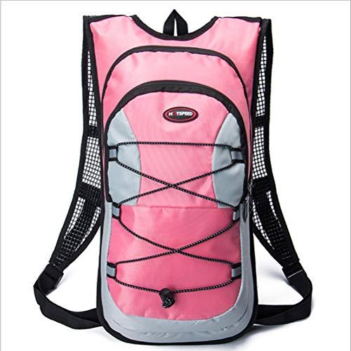 Outdoor-Sportarten reiten Wassersack, Fahrradtasche Wandern Reise Wassersack Rucksack Unisex Rucksack Reittasche (Keine Wasser Tasche),Pink