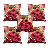 Best Happy Sales Friends Gift Sets - meSleep Rose 3D 5 Piece Satin Cushion Cover Review