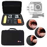 Duragadget Mallette de rangement rigide pour COOLER SJ4000, SAVFY SJ4000, CCbetter CS720W et CS810W - caméra embarquée