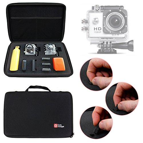 Mallette de rangement rigide pour Excelvan TC-DV6, TC-Y8, TC-J6, TC-Q5, Q6 et Eyes GO - caméra embarquée - DURAGADGET