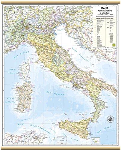 Italia Amministrativa e Stradale Carta Murale [47x60 cm] Belletti