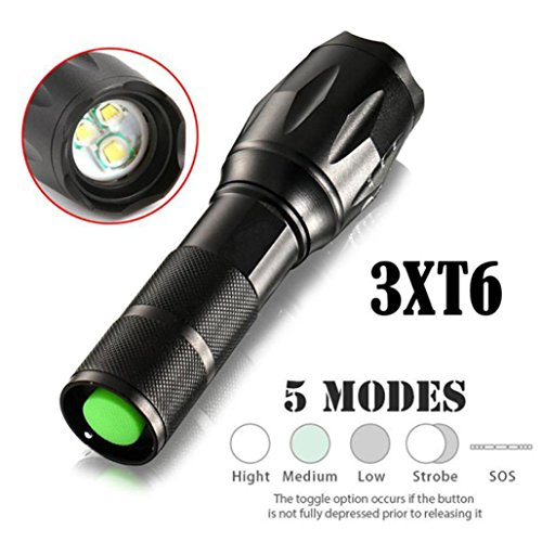 LED Taschenlampe 15000 Lumens, Wasserdicht Zoombar 3T6 LED Taschenlampe By huichang (Led-taschenlampe 15000 Lumen)