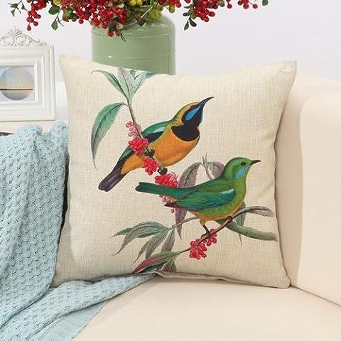 Yifom Bird set cuscino del divano cuscino lombare automotive un cuscino di (Deer Coperta Del Tiro)