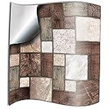 24 Pz Multi mosaico Adesivi per Piastrelle Formato 15 x 15 cm Cucina Adesivi per Piastrelle per Bagno adesivi - Coperture per piastrelle in vinile piatto stampato in 2D sottile Multi mosaico