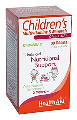 HealthAid Children's MultiVitamin + Minerals - 30 Tablets