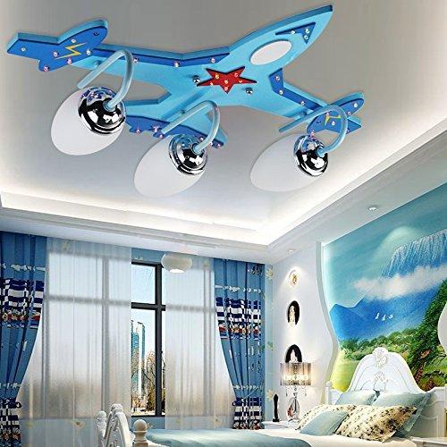PANNN Moderne LED Deckenleuchte Kinderzimmer Deckenleuchte jungen LED Eye Energiesparlampen Zimmer Flugzeuge cartoon L60*w45*H8cm ,220V-240V Baby-kinderzimmer Deckenventilator
