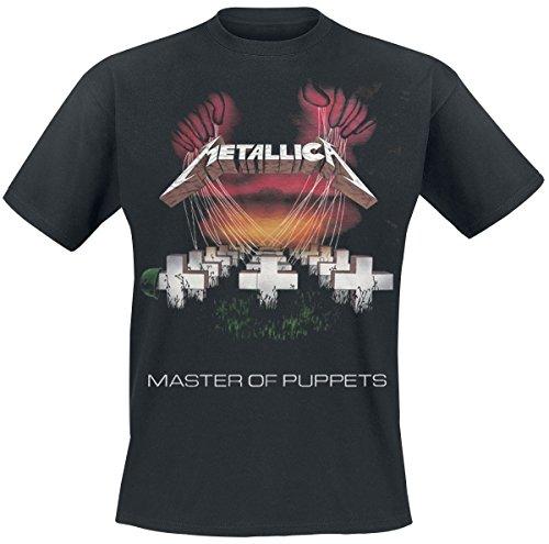 Metallica Men's MOP 86 European Tour T-shirt Black