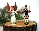 Miniaturen Engel und Bergmann, Paar Engel=11cm Bergmann=9,5cm NEU Weihnachtsfigur Tischdeko Engel Bergmann
