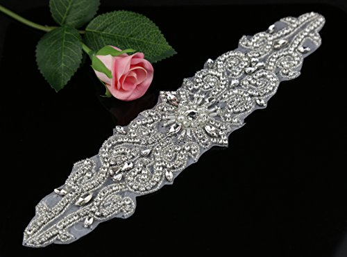 Queendream Pearls for wedding Sash sposa cintura con strass applique