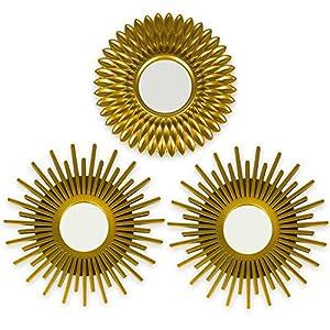 BONNYCO Espejos Pared Decorativos Dorados
