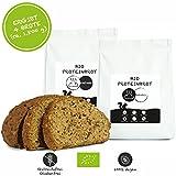 PALEO Brot-Backmischung: Kastanie & Mandel | Bio | Vegan | Getreidefrei, Gluten-frei | Eiweissbrot - 20% Protein | ohne Zuckerzusatz | Hergestellt in DE | Paleo To Go | Ergibt 4 Brote (1.8 kg)