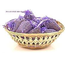 12 bolsas para bolsa de Organza en tamaño pequeño de lavanda seca - flor de verdad confeti para boda/fragancia para el hogar/Crafts/de llew mejia sudadera de relajante Ideas (se puede aplicar siguiendo el color de tus cestos