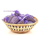 15 Lavendel-Säckchen Bio Provence 15 Organza-Beutel violett Hochzeit Taufe 10 Gramm pro Packung essbarer Bio-Lavendel aus Aix-en-Provence/Frankreich, Flowers Story gesamt 150 g. violett