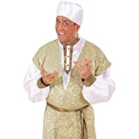 NET TOYS Cappello arabo orientale sceicco islamico turbante copricapo  sultano bianco oriente pascià maragià 041ef590bd6f