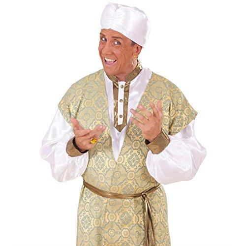 NET TOYS Weißer Araber Turban Scheich Kopfbedeckung weiß Arabischer Turban Orient Hut Sultan Kostüm - Arabische Scheich Kostüm Kopfbedeckung