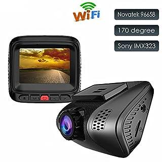DashCamCarCamera1080PFullHDMiniVideoRecorderwithSonySensorWDR,NightVision,G-Sensor,MotionDetection,LoopRecordingAccfly