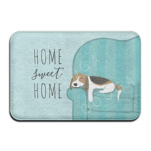 h Beagle Home Sweet Home Super Absorbent Anti-Slip Mat Indoor/Outdoor Decor Rug Doormat 24x16 Inch Home Decor ()