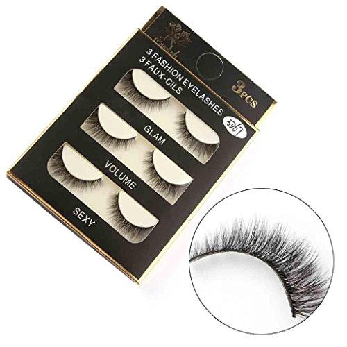 1 Box Falsche 3D-Wimpern, Zarupeng Luxus Falsche Wimpern Flauschigen Dicke Lange Wimpern Natürliche, Wiederverwendbare, Handgemachte (One Size, Schwarz)