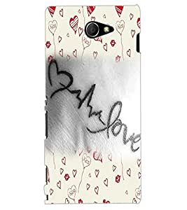 ColourCraft Love Art Design Back Case Cover for SONY XPERIA M2 DUAL D2302